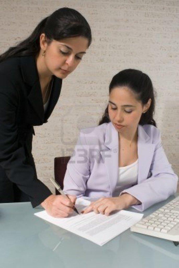 La firma de informes sobre determinados ambientes